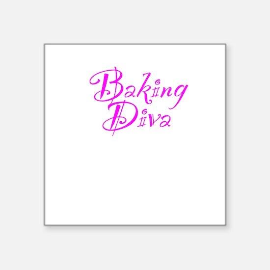 "Baking Diva Square Sticker 3"" x 3"""
