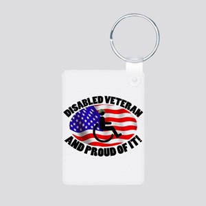 Proud Disabled Veteran Aluminum Photo Keychain