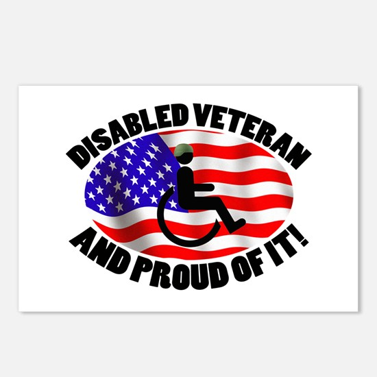 Proud Disabled Veteran Postcards (Package of 8)