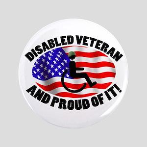 "Proud Disabled Veteran 3.5"" Button"
