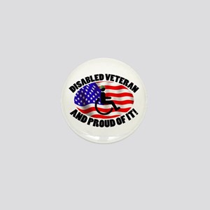 Proud Disabled Veteran Mini Button