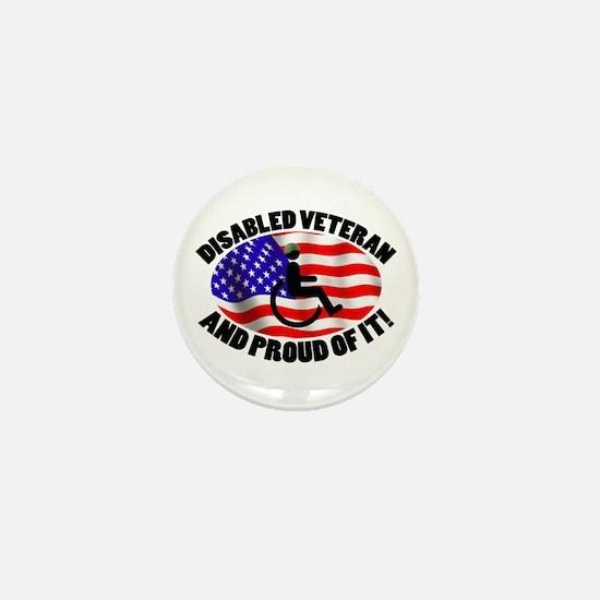 Proud Disabled Veteran Mini Button