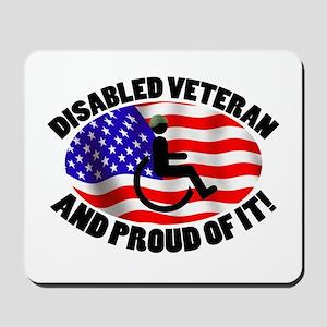 Proud Disabled Veteran Mousepad