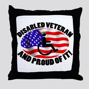 Proud Disabled Veteran Throw Pillow
