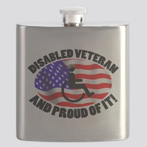 Proud Disabled Veteran Flask