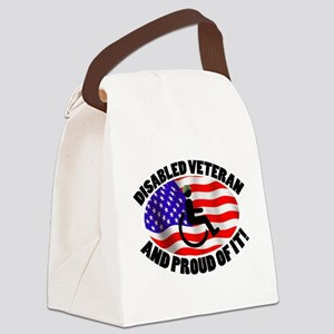 Proud Disabled Veteran Canvas Lunch Bag