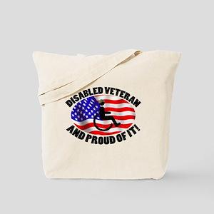 Proud Disabled Veteran Tote Bag