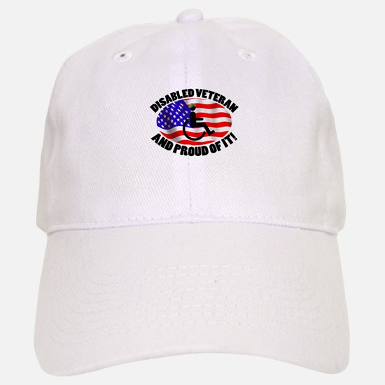 Proud Disabled Veteran Baseball Baseball Cap