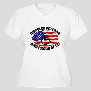 Proud Disabled Veteran Women's Plus Size V-Neck T-