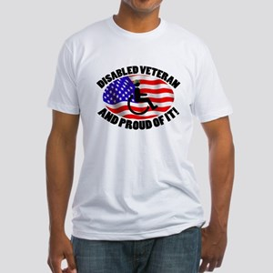 Proud Disabled Veteran Fitted T-Shirt