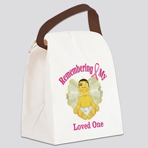 Remembrance Angel Canvas Lunch Bag