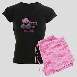 Teddy Bear Prayers Women's Dark Pajamas