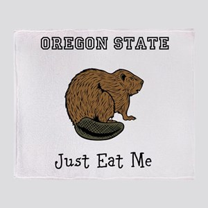OSU Beavers Throw Blanket