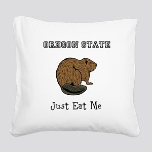 OSU Beavers Square Canvas Pillow