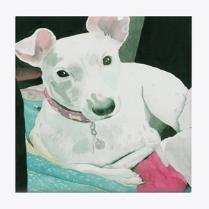 Jack Russell Terrier Sully Tile Coaster
