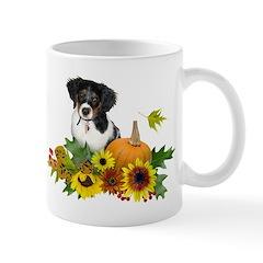 Fall Flowers Puppy Mug