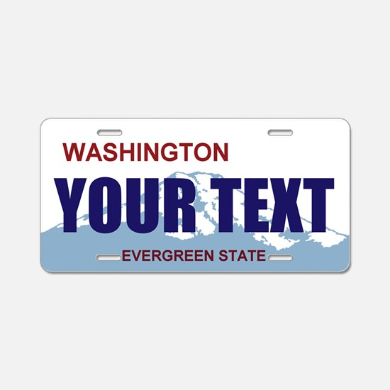 Washington - Evergreen State license plate replica