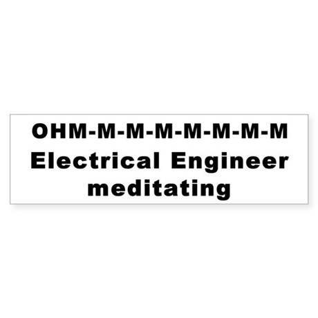 Meditating Electrical Engineer ohm Sticker (Bumper