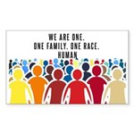 We Are One. Sticker (Rectangle 50 pk)