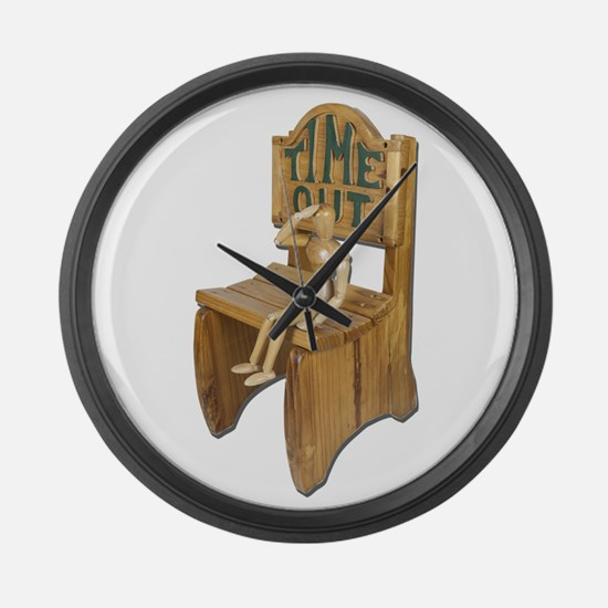 Sitting Timeout Chair Large Wall Clock