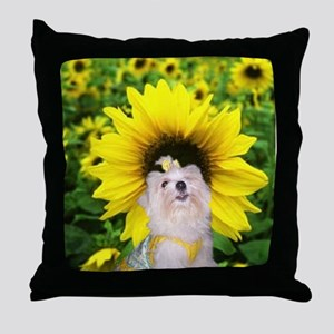 i love my puppy Throw Pillow