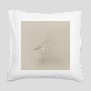 Smoke Rider Square Canvas Pillow