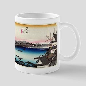 Yoshida - Hiroshige Ando - 1833 Mugs