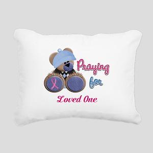 Teddy Bear Prayers Rectangular Canvas Pillow