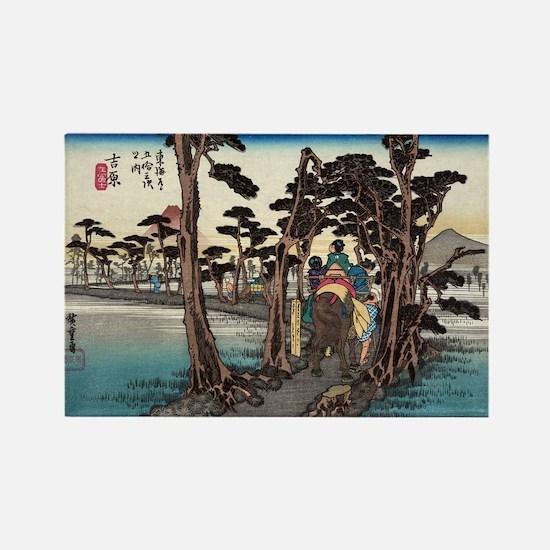 Yoshiwara - Hiroshige Ando - 1833.tif Magnets