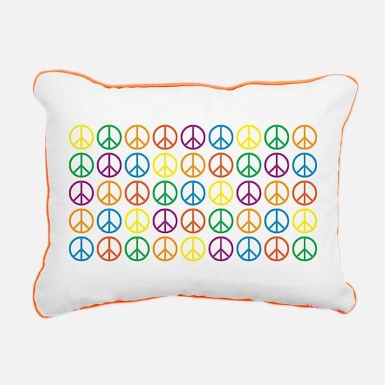 Peace Symbols Rectangular Canvas Pillow