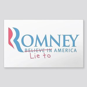 Anti-Romney Sticker (Rectangle)