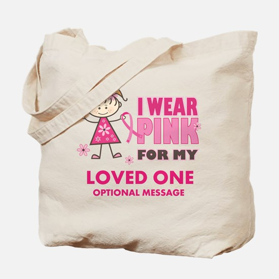 Custom Wear Pink Tote Bag