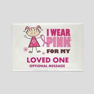 Custom Wear Pink Rectangle Magnet