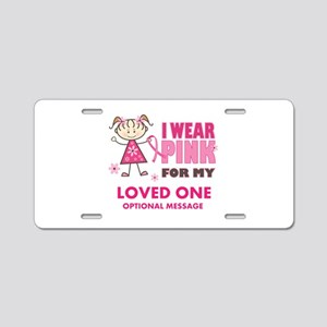 Custom Wear Pink Aluminum License Plate