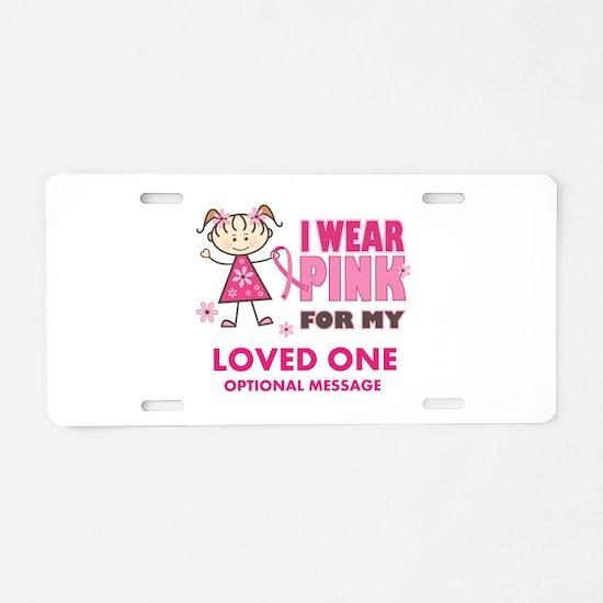 Custom Wear Pink Aluminum License Plate