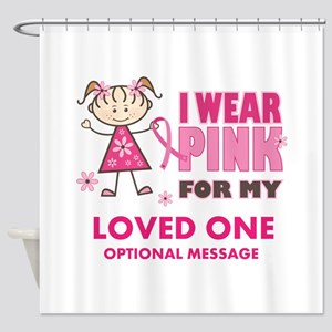 Custom Wear Pink Shower Curtain