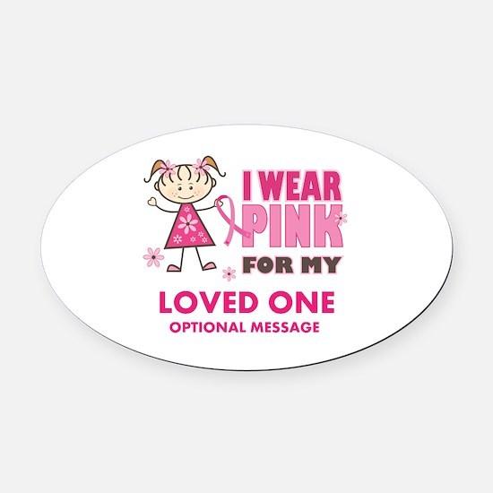 Custom Wear Pink Oval Car Magnet