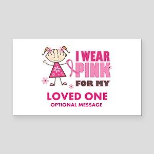 Custom Wear Pink Rectangle Car Magnet