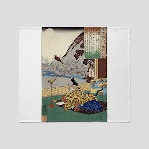 Kakinomoto No Hitomaro - Kuniyoshi Utagawa - 1844