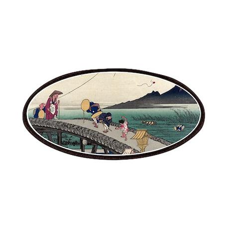 Kakegawa - Hiroshige Ando - 1833 - woodcut Patch