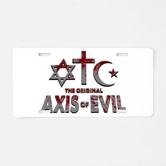 Original Axis of Evil Aluminum License Plate