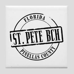 St Pete Bch Title Tile Coaster