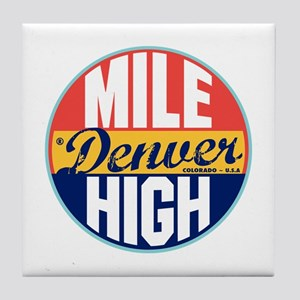 Denver Vintage Label Tile Coaster