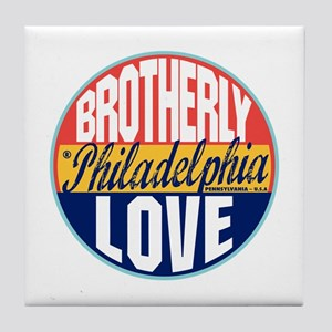 Philadelphia Vintage Label Tile Coaster