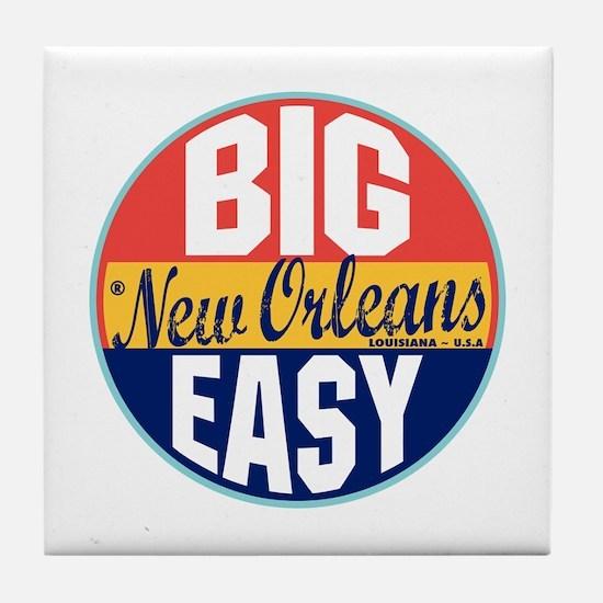 New Orleans Vintage Label Tile Coaster