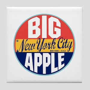 New York Vintage Label Tile Coaster