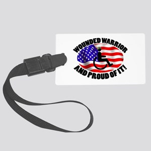 Proud Wounded Warrior Large Luggage Tag