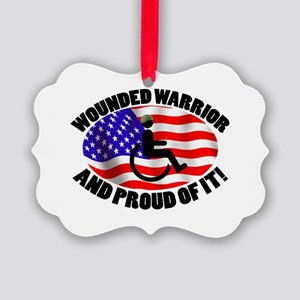 Proud Wounded Warrior Picture Ornament