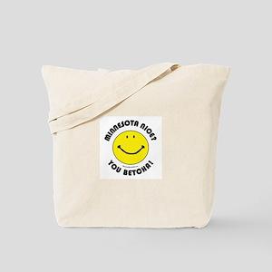 Minnesota Nice Smiley Tote Bag