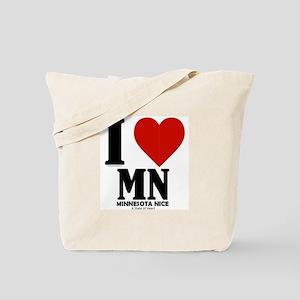 Minnesota Nice I love mn Tote Bag